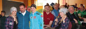 Prof. Christian Fink mit Skicross Weltmeisterin Andrea Limbacher und Weltcup Athletin Elisabeth Reisinger / Andrea Limbacher ist mit vier Kreuzbandrissen ein Routinier des Comebacks.