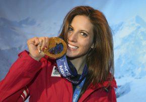 Olympiasiegerin Julia Dujmovits
