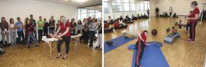 Stefanie Riedler bei der Manualtherapie / Doris Auer referiert funktionelles Training