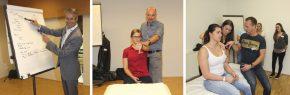 Christian Hoser bringt System ins Workshop / Jürgen Kleinrath bei der klinischen Untersuchung / Norbert Keiblinger bei der Differentialdiagnose