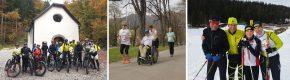 E-Bike-Testtag auf der Umbrüggler Alm / Team Gelenkpunkt beim Frühlingslauf / Langlauf-Training für den Ganghofer-Lauf