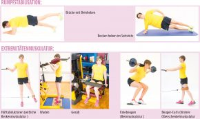 Rumpfstabilisation / Extremitätenmuskulatur