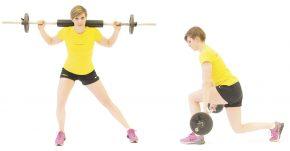 Training Boarder: Ausfallschritt seitlich, Lunges mit tiefer Hantel