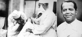 Eugen Bircher, Quelle: Eugen Bircher (1882-1956): The first knee surgeon to use diagnostic Arthroscopy, Arthroscopy, Vol 19, No 7 (2003); Der Linzer Reinhard Suckert