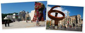 Ellinor und Josef Wiesauer vor dem Guggenheim / Ayuntamiente de Bilbao