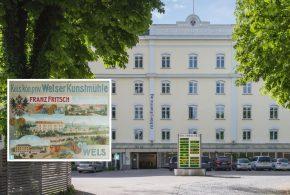 trieb in Oberösterreich: Die Welser Kunstmühle Fritsch in der Habsburger-Monarchie. / 6 Die am Welser Mühlbach gelegene ehemalige Kunstmühle Fritsch ist heute die Firmenzentrale von Richter Pharma AG.