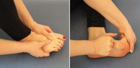 Massage und Mobilisation des Fußgewölbes