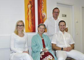 v.l.n.r.: Monika Braune, Christa Brenner, Wolfgang und Dominik Stelzer